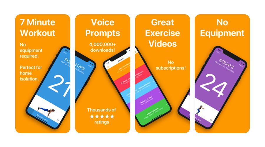 7 Minute App per iOS e Android