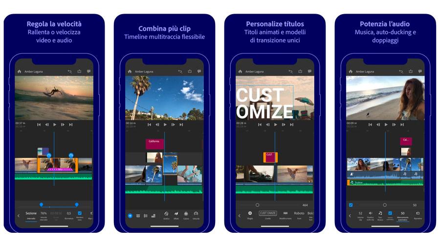 Adobe Premiere Rush per montare video clip e fare video editing su dispositivi Android ed Apple