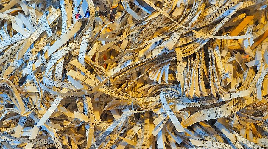 Carte tritate da un Tritacarte o Tritadocumenti