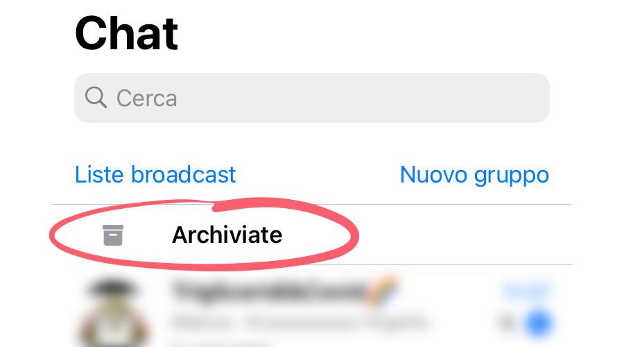 Recuperare chat archiviate su WhatsApp