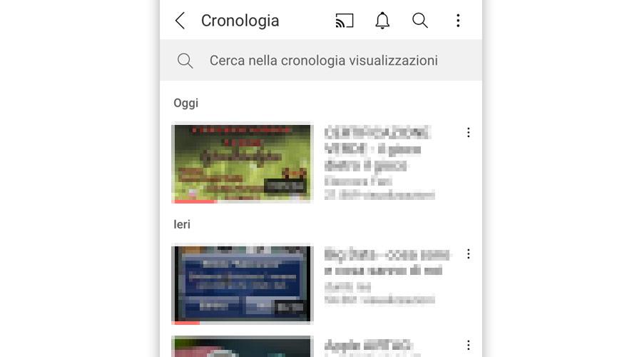 Come vedere la cronologia su YouTube