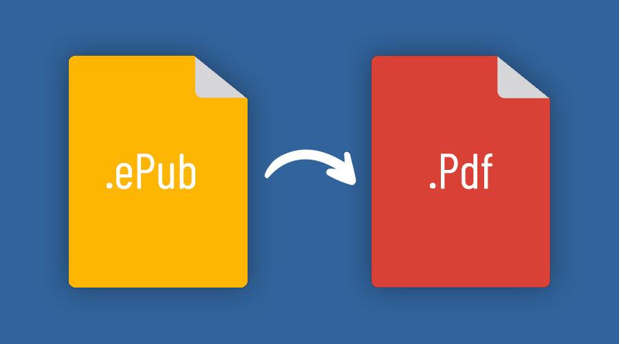 Convertire file ePUB in PDF