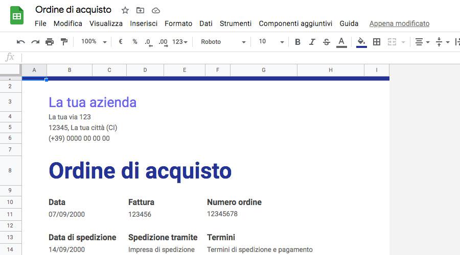Google Fogli - Google Sheets