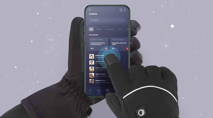 Guanti a batterie touch screen