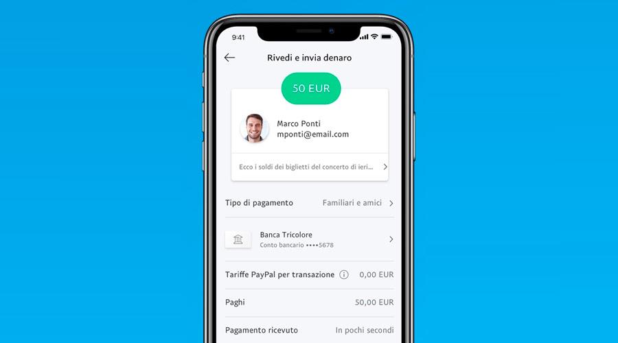 Inviare denaro facilmente con PayPal