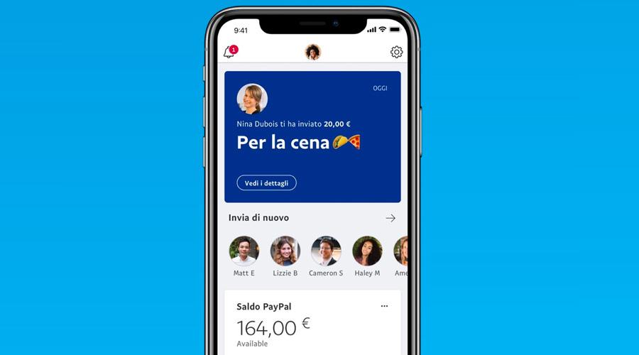 Applicazione di PayPal per Android ed iPhone