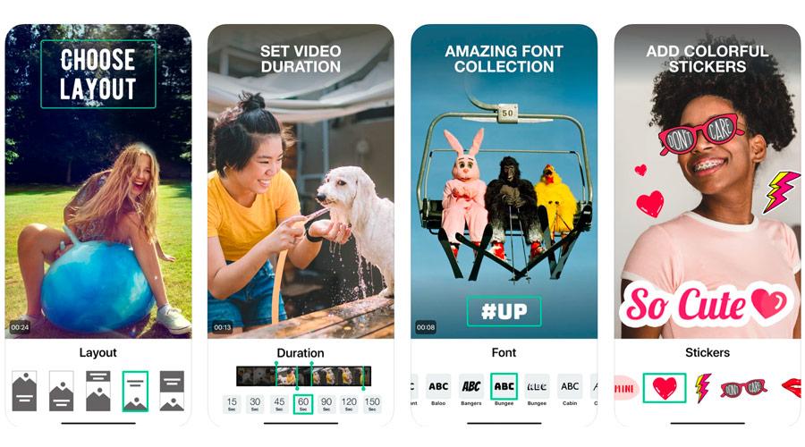 Magisto  per montare video con sticker s'modificare la durata, il layout, inserire testo nel video
