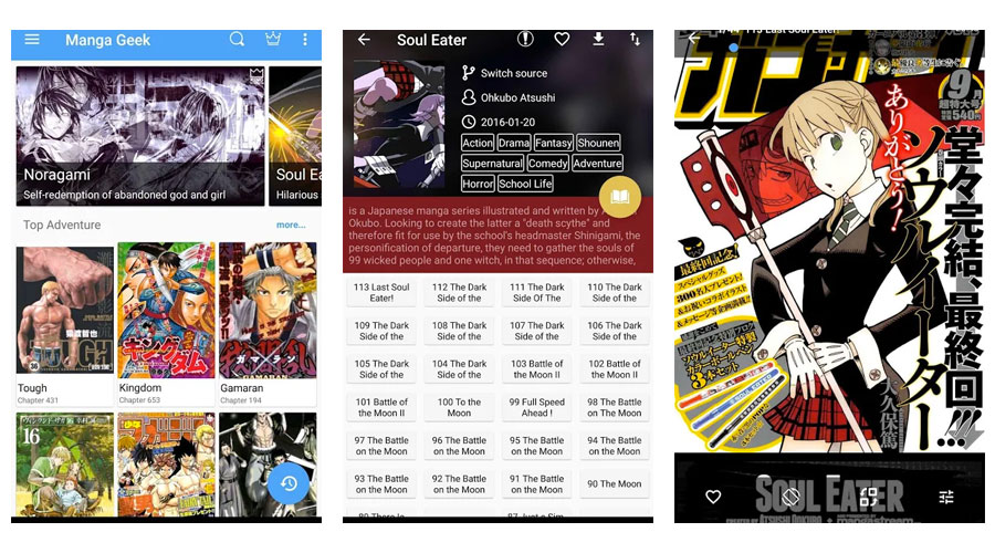 Manga Geek per leggere tramite App