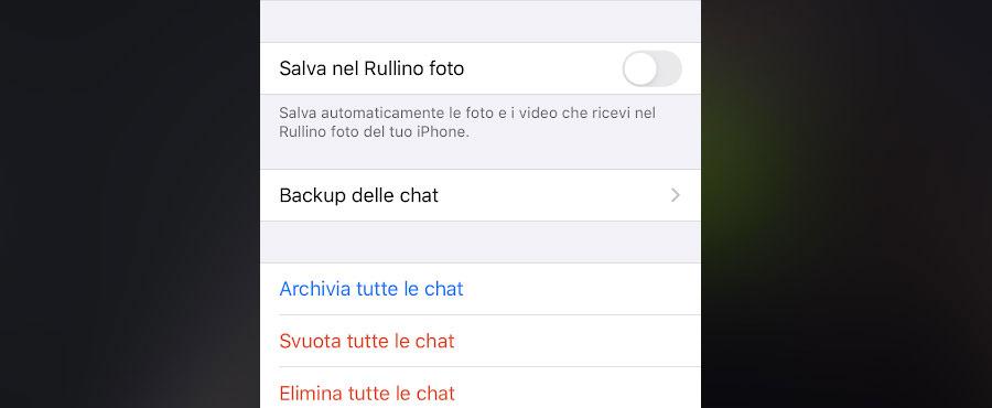 Disattivare il salvataggio automatico delle foto su WhatsApp