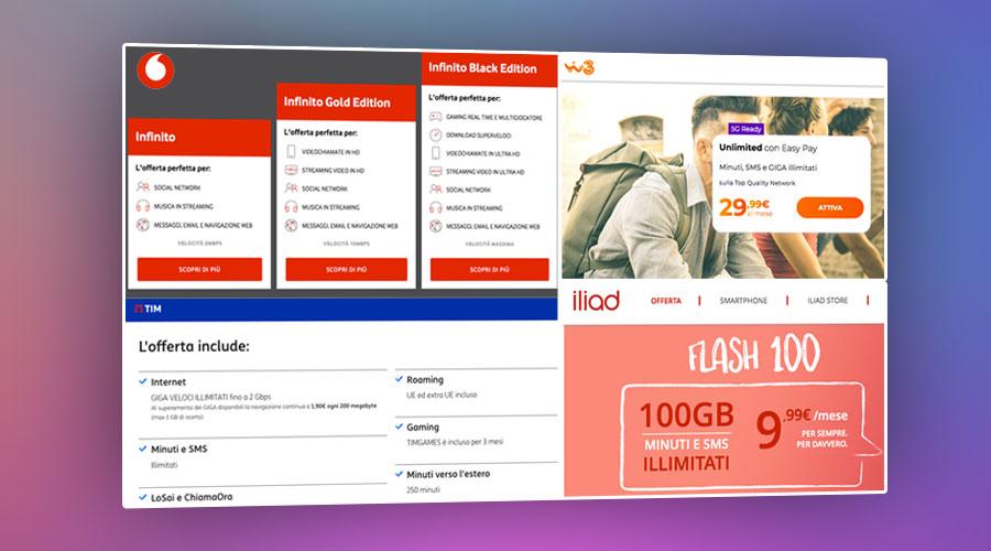 Le migliori offerte SIM con internet illimitato