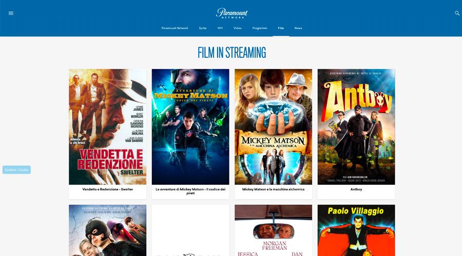 Vedere film gratuiti su Paramount network