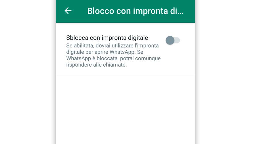 Stare la password di accesso su WhatsApp per Android
