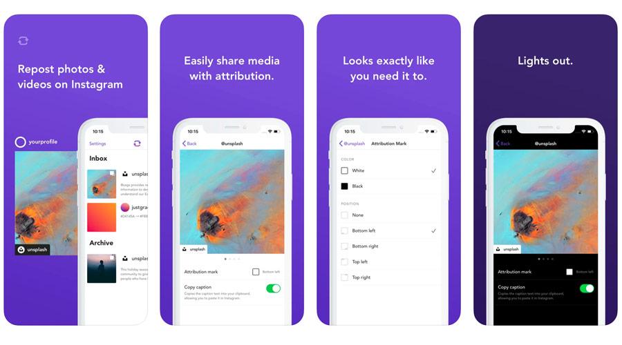 App per ripubblicare foto di altri sul proprio account Instagram