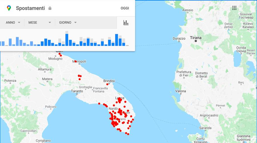 Come vedere la cronologia delle posizioni su Google Maps