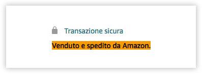 Transazione sicura Amazon