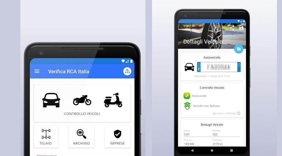App android per la verifica del bollo Auto