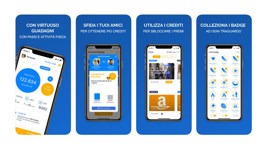 Virtuoso App per fare sport su iOS e Android