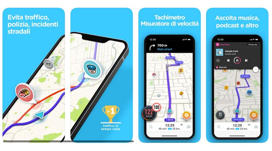 Waze per avere una mappa aggiornata degli autovelox