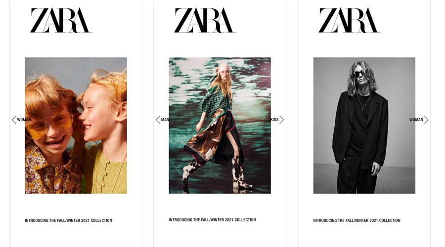 Acquistare abbigliamento online su Zara